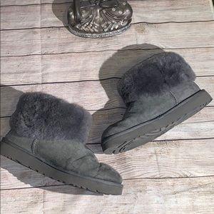 Ugg  Classic Mini Cuff Ankle Boots Gray 9 #4